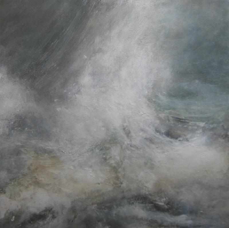 Zee, Woest, Onstuimig, Dashing, Golven, Water, Sea, Coast, painting, schilderij, carryvandelft