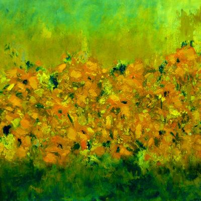 Carry van Delft - Vibrant Orange Summer Field